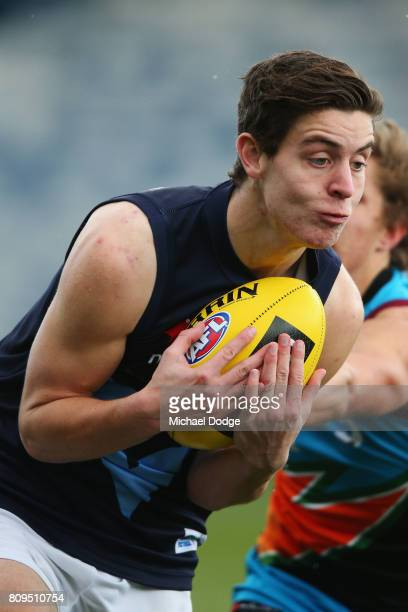 Nicholas Coffield of Vic Metro during the U18 AFL Championships match between Vic Metro and the Allies at Simonds Stadium on July 5 2017 in Geelong...