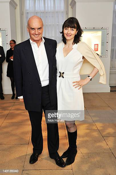 Nicholas Coleridge and Georgia Coleridge attend the launch party for Cartier Tank Anglaise Watch Collection at The Orangery on April 19, 2012 in...