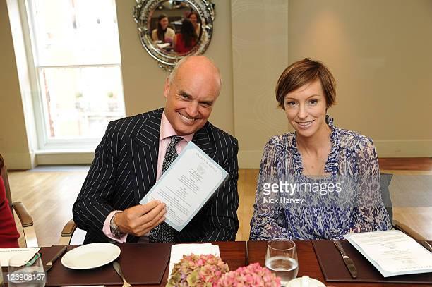 Nicholas Coleridge and Jo Elvin attend Wool Week 2011 afternoon tea at Harvey Nichols 5th Floor Restaurant on September 5, 2011 in London, England.