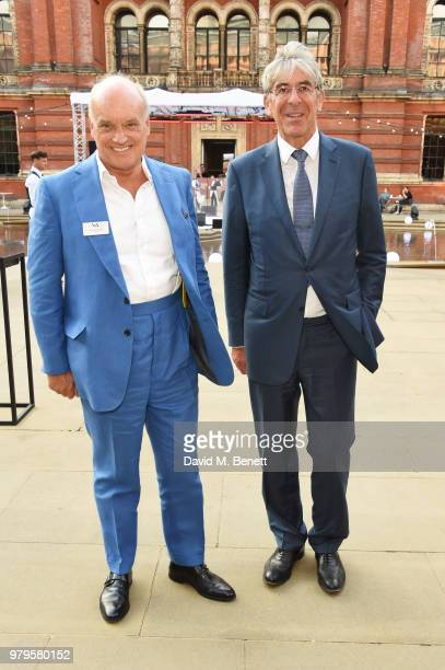 Nicholas Coleridge and Michael Ward Harrods CEO attends the Summer Party at the VA in partnership with Harrods at the Victoria and Albert Museum on...