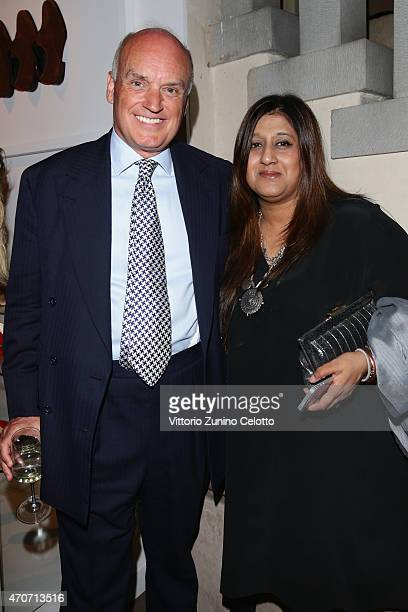 Nicholas Coleridge and Priya Tanna, Editor, Vogue Indiaattend the Conde' Nast International Luxury Conference Drinks Reception hosted by Salvatore...