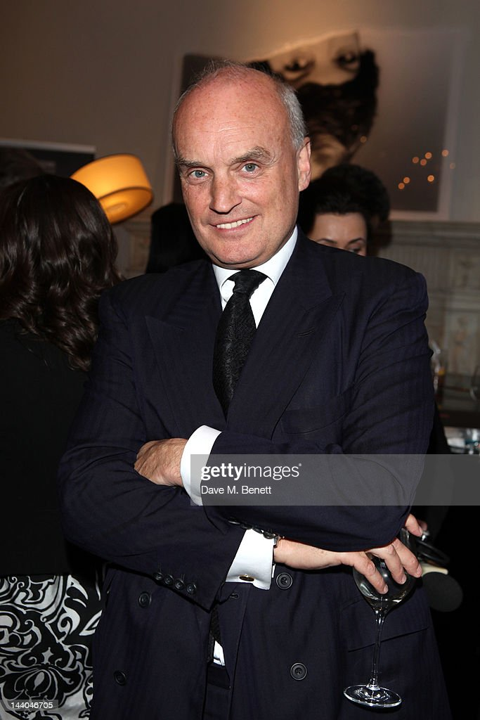 Nicholas Coleridge attends a party to launch the book 'Speed of Life,' containing photographs of David Bowie, by Masayoshi Sukita at the Arts Club on May 8, 2012 in Dover St, London.