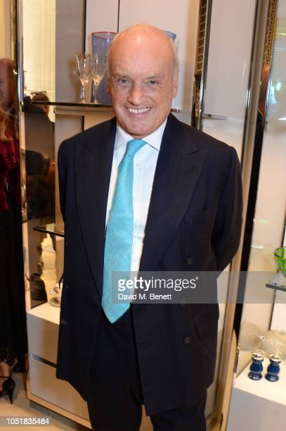 Nicholas Coleridge attends 'Dior And His Decorators' Book Signing at Dior Boutique on October 10, 2018 in London, England.