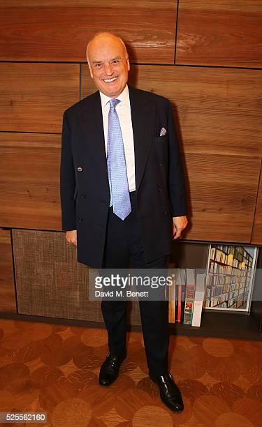 Nicholas Coleridge attends the BFC Fashion Trust x Farfetch cocktail reception on April 28, 2016 in London, England.