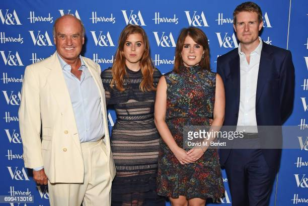 Nicholas Coleridge, Princess Beatrice of York, Princess Eugenie of York and Tristram Hunt attend the 2017 annual V&A Summer Party in partnership with...