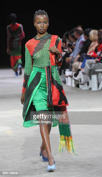 Nicholas Coutts Fashion during the Africa Fashion International Cape Town Fashion Week on March 24 2018 in Cape Town South Africa The Cape Town...