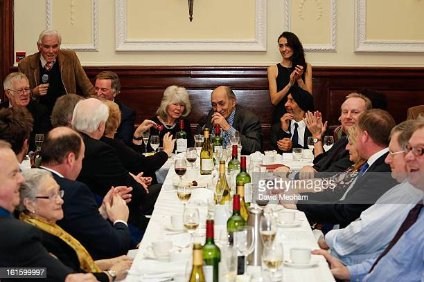 Nicholas Crace Terry Wogan Jilly Cooper and Richard Ingrams attend the Oldie of the Year Awards at Simpsons in the Strand on February 12 2013 in...