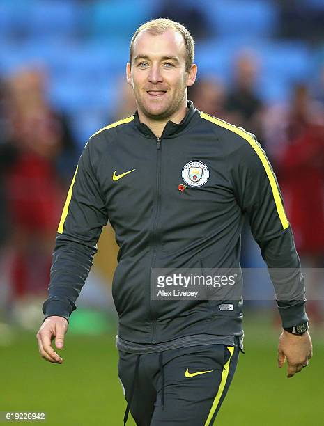 Nicholas Cushing Head Coach of Manchester City after the game during Women's Super League1 match between Manchester City and Birmingham City on...