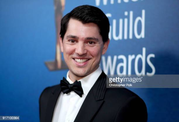 Nicholas D'Agosto attends the 2018 Writers Guild Awards LA Ceremony at The Beverly Hilton Hotel on February 11 2018 in Beverly Hills California