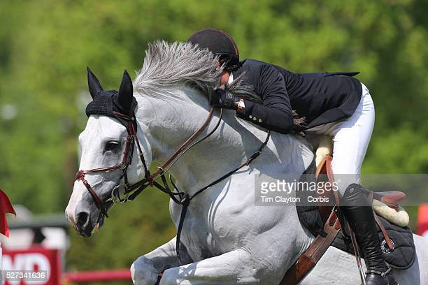 Nicholas Dello Joio riding Caballero 80 in action during the $100000 Empire State Grand Prix presented by the Kincade Group during the Old Salem Farm...