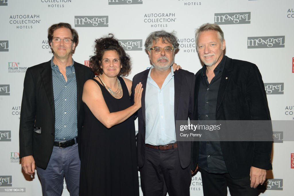 Nicholas dePencier, Jennifer Baichwal, Hussain Amarshi and Edward Burtynsky attend 'The Anthropocene Project' at Mongrel House during the 2018 Toronto International Film Festival at Roy Thompson Hall on September 6, 2018 in Toronto, Canada.