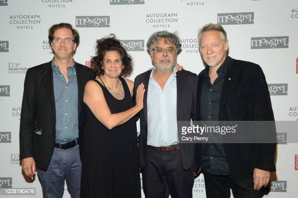Nicholas dePencier Jennifer Baichwal Hussain Amarshi and Edward Burtynsky attend 'The Anthropocene Project' at Mongrel House during the 2018 Toronto...