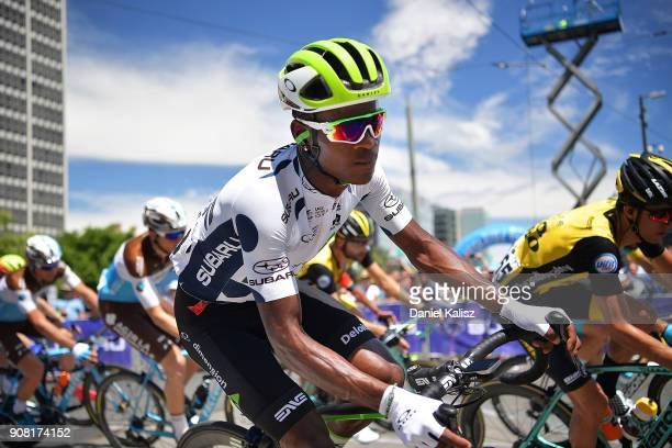Nicholas Dlamini of South Africa and Team Dimension Data competes during stage six of the 2018 Tour Down Under on January 21 2018 in Adelaide...