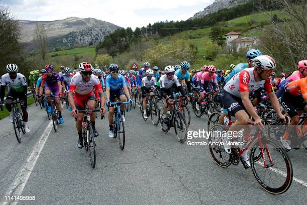 Nicholas Dlamini of South Africa and Team Dimension Data / Diego Rubio of Spain and Team Burgos - BH / Loïc Chetout of France and Team Cofidis...