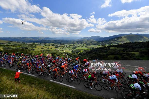 Nicholas Dlamini of South Africa and Team Dimension Data / Edvald Boasson Hagen of Norway and Team Dimension Data / Steff Cras of Belgium and Team...