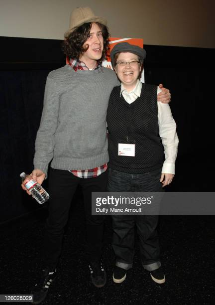 Nicholas Fackler and Jenn Wilson attend the 2011 Film Independent Spirit Awards Screening for Lovely Still at Regal 14 at LA Live Downtown on January...