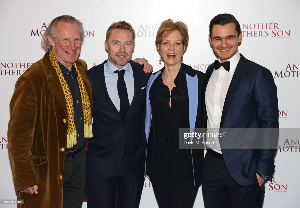 Nicholas Farrell, Ronan Keating, Jenny Seagrove and Julian Kostov attend the World Premiere of 'Another Mother's Son' on March 16, 2017 in London, England.