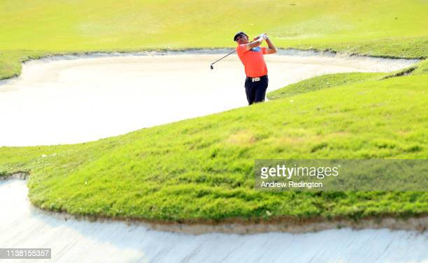 Nicholas Fung of Malaysia during Day Four of the Maybank Championship at Saujana Golf Country Club Palm Course on March 24 2019 in Kuala Lumpur...