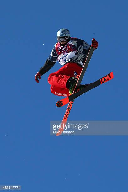 Nicholas Goepper of the United States competes in the Freestyle Skiing Men's Ski Slopestyle Finals during day six of the Sochi 2014 Winter Olympics...