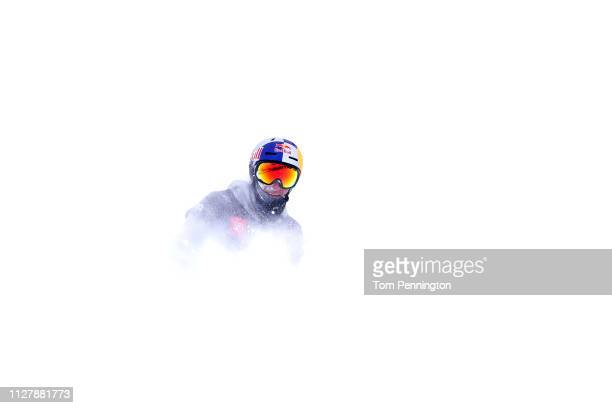 Nicholas Goepper of the United States finishes in third place in the Men's Ski Slopestyle Final at the FIS Freestyle Ski World Championships on...