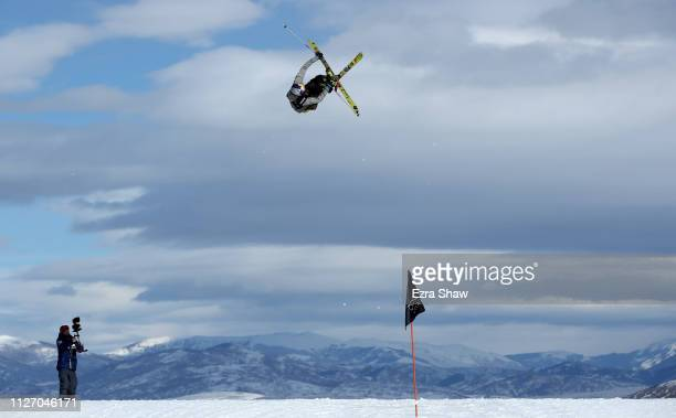 Nicholas Goepper of the United States warms up before the qualification round of the Men's Ski Big Air at the FIS Freeski World Championships on...