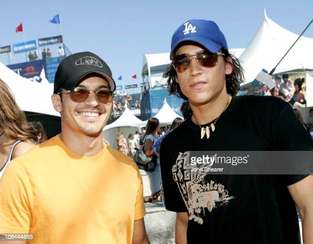 Nicholas Gonzales and Andrew Keegan during Teen Vogue Fashion Live Inside in Huntington Beach California United States