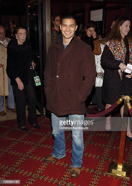 """Nicholas Gonzales during """"The Life Aquatic with Steve Zissou"""" New York Premiere - Inside Arrivals at Ziegfeld Theater in New York City, New York,..."""