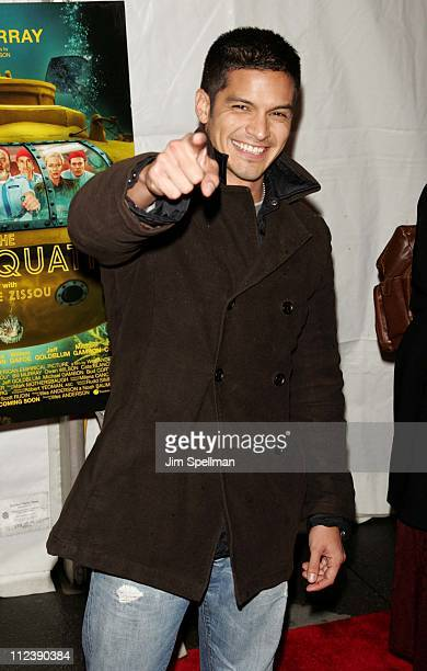 Nicholas Gonzales during 'The Life Aquatic with Steve Zissou' New York City Premiere Outside Arrivals at Ziegfeld Theater in New York City New York...