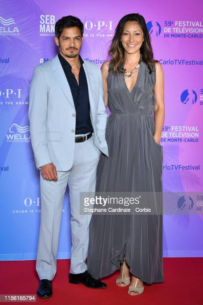 Nicholas Gonzalez and Christina Chang arrive at the 59th Monte Carlo TV Festival : TV Series Party on June 15, 2019 in Monte-Carlo, Monaco.