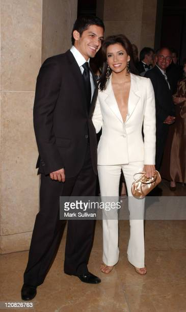Nicholas Gonzalez and Eva Longoria during 34th Annual Nosotros Golden Eagle Awards Arrivals at Beverly Hilton Hotel in Beverly Hills California...