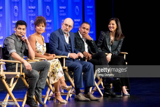 Nicholas Gonzalez Antonia Thomas Richard Schiff Hill Harper and Tamlyn Tomita attend the panel discussion at the 2018 PaleyFest Los Angeles ABC's...