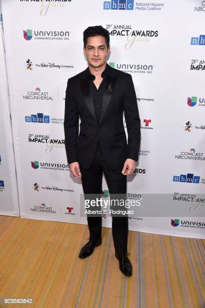 Nicholas Gonzalez attends the 21st annual NHMC Impact Awards Gala at Regent Beverly Wilshire Hotel on February 23 2018 in Beverly Hills California