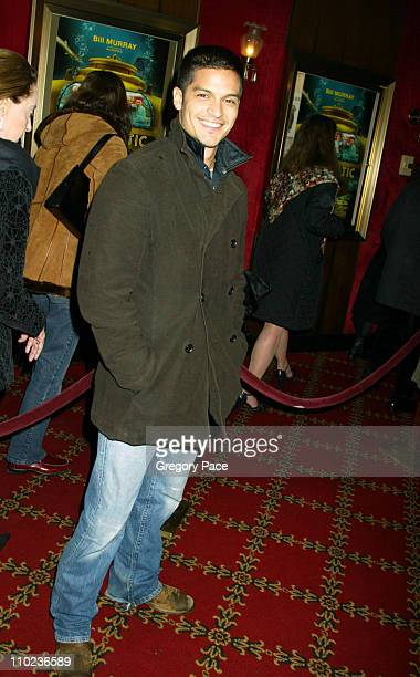 Nicholas Gonzalez of 'The OC' during 'The Life Aquatic with Steve Zissou' New York City Premiere Inside Arrivals at Ziegfield Theater in New York...