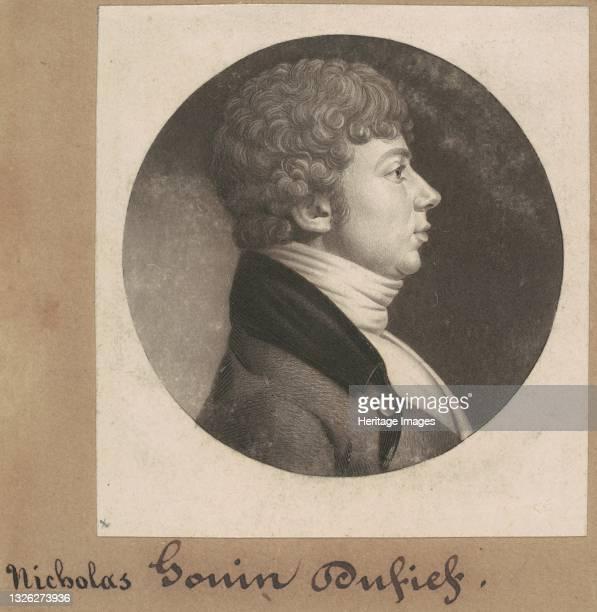 Nicholas Gouin Dufief, 1801. Artist Charles Balthazar Julien Févret de Saint-Mémin.