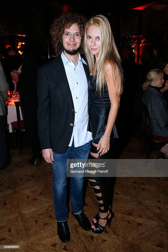 Nicholas Goulandris and his wife Viera Goulandris attend the Dinner in honor of the Artist Adrian Ghenie organized by Thaddaeus Ropac at Maxim's on October 22, 2015 in Paris, France.