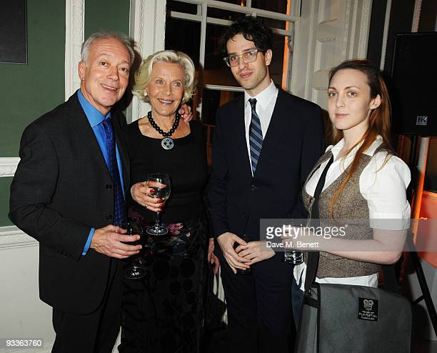 Nicholas Grace Honor Blackman Oliver Refson and Laila Wadenberg attend the Place 2 Be Charity Party at the House of St Barnabas on November 24 2009...