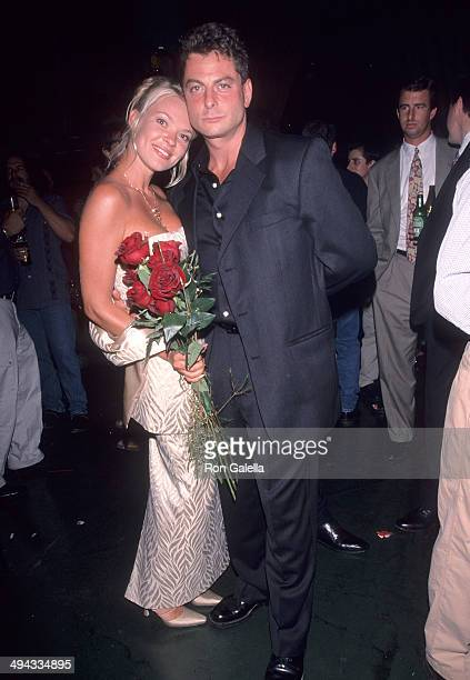 Nicholas Guccione and wife Penthouse Pet Nikie St Gilles attend the Penthouse Magazine's 30th Anniversary Celebration on June 24 1999 at Ohm in New...