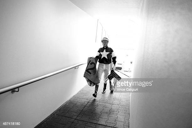 Nicholas Hall is seen during Caulfield Cup Day at Caulfield Racecourse on October 18 2014 in Melbourne Australia