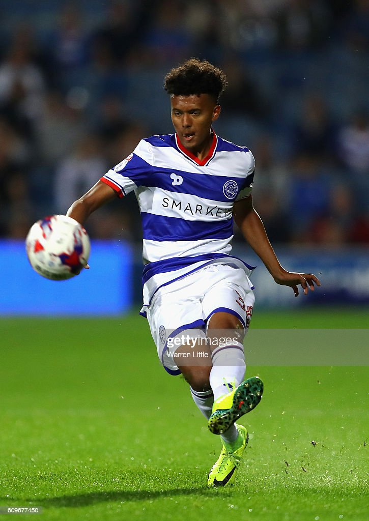 Nicholas Hamalainene of Queens Park Rangers in action during the EFL Cup Third Round match between Queens Park Rangers v Sunderland at Loftus Road on September 21, 2016 in London, England.