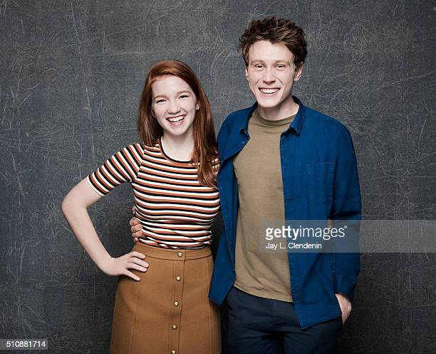 Nicholas Hamilton and Annalise Basso of 'Captain Fantastic' pose for a portrait at the 2016 Sundance Film Festival on January 23 2016 in Park City...