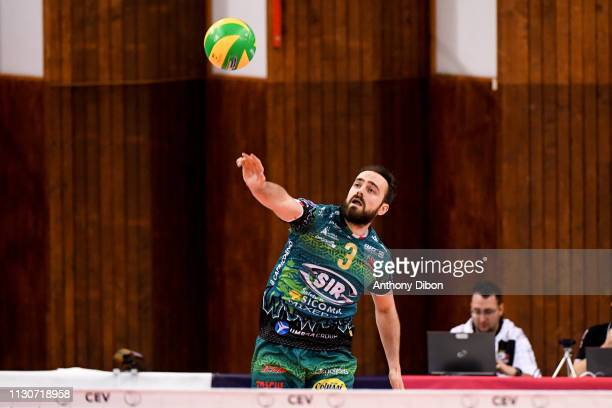 Nicholas Hoag of Perugia during the CEV Champions League match Chaumont 52 and SIR Safety Perugia on March 14 2019 in Reims France