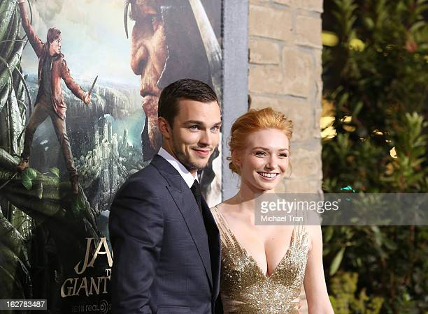 Nicholas Hoult and Eleanor Tomlinson arrive at the Los Angeles premiere of 'Jack The Giant Slayer' held at TCL Chinese Theatre on February 26 2013 in...