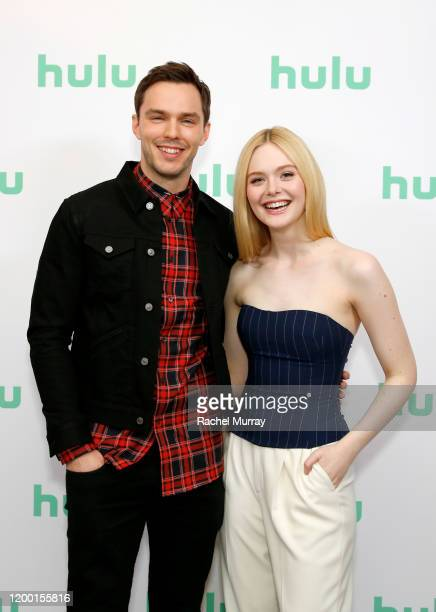 Nicholas Hoult and Elle Fanning attend the Hulu Panel at Winter TCA 2020 at The Langham Huntington, Pasadena on January 17, 2020 in Pasadena,...