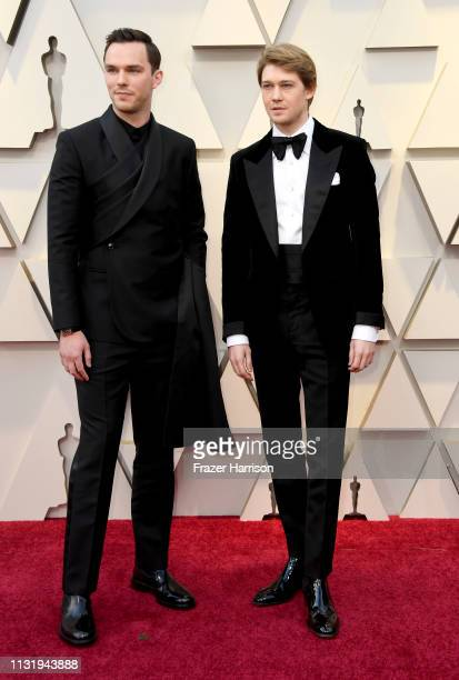 Nicholas Hoult and Joe Alwyn attend the 91st Annual Academy Awards at Hollywood and Highland on February 24 2019 in Hollywood California