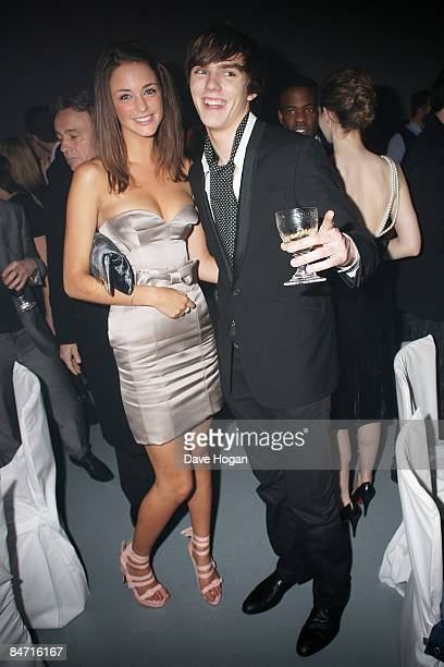 Nicholas Hoult and Lauren Budd attend the afterparty of The Elle Style Awards 2009 held at Big Sky Studios Caledonian Road on February 9 2009 in...