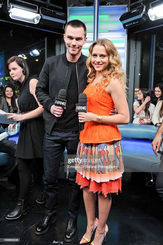 Nicholas Hoult and Teresa Palmer interview on New.Music.Live at MuchMusic Headquarters on January 21, 2013 in Toronto, Canada.