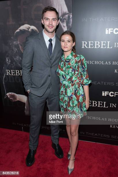 Nicholas Hoult and Zoey Deutch attend the 'Rebel in the Rye' New York Premiere at Metrograph on September 6 2017 in New York City