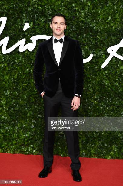 Nicholas Hoult arrives at The Fashion Awards 2019 held at Royal Albert Hall on December 02, 2019 in London, England.