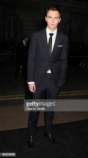 Nicholas Hoult arrives at the UK film premiere of 'A Single Man' at the Curzon Cinema Mayfair on February 1 2010 in London England