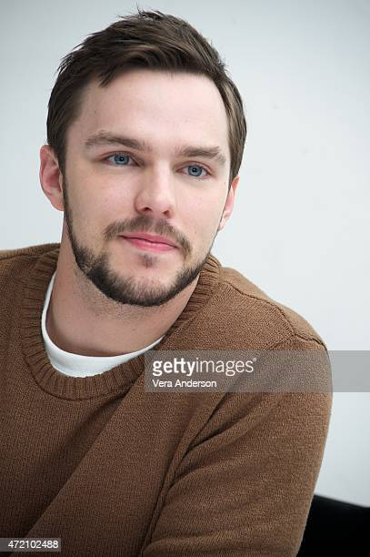 Nicholas Hoult at the 'Mad Max Fury Road' Press Conference at Siren Studios on May 2 2015 in Hollywood California